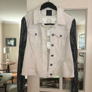 Jackets & Blazers - Craft Fair White Denim Jacket